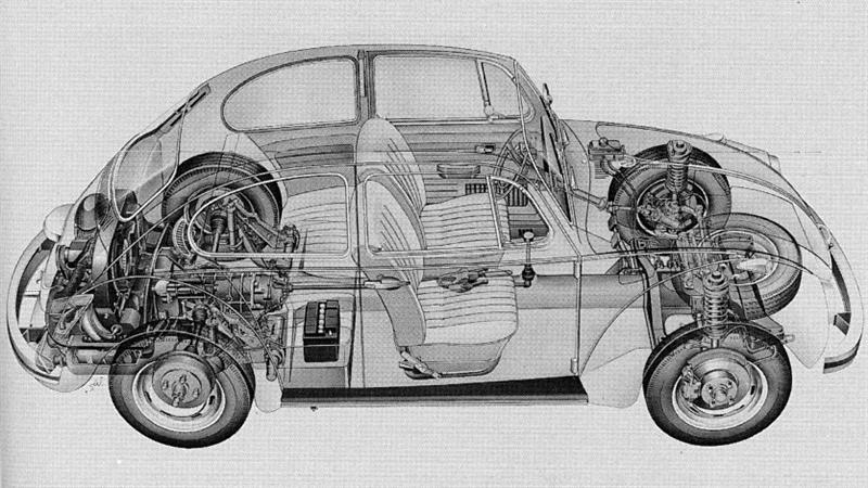 diagram of a 1974 volkswagen beetle suspension   46 wiring