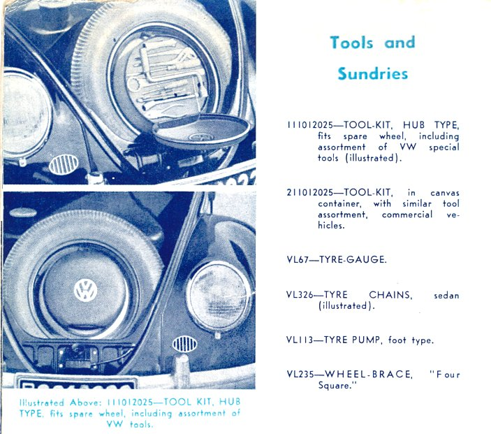 Classic Vw Beetle Tool Kit: Culture And Collectables