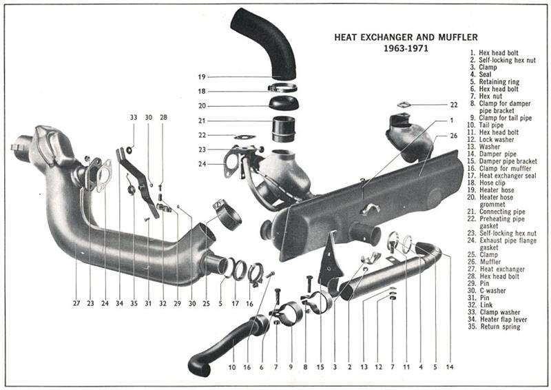 exh09 exhausts club veedub Type 1 VW Engine Diagram at bayanpartner.co